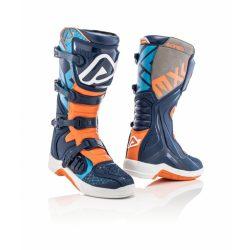 Acerbis x-team cross csizma kék-narancs