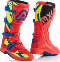 Acerbis X-Team cross csizma, Red-yellow-blue
