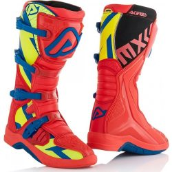 Acerbis X-Team cross csizma, Red-yellow-blue