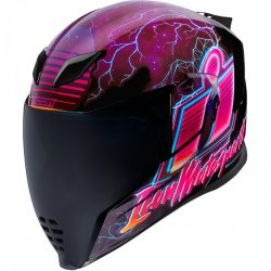 ICON   Airflite™   Synthwave   bukósisak, pink-fekete