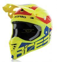 Acerbis Profile 3 Black Mamba bukósisak, Neon Yellow / Blue