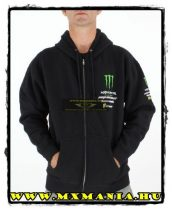 Pro Circuit Monster Sweat cipzáros pullóver, Fekete