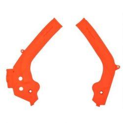 Polisport vázvédő KTM SX+SXF 17/19 + EXC+EXCF 16/20 motorokhoz, narancs színben