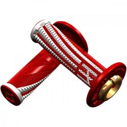 ODI Pro V2 Lock-on csavaros markolat, piros-fehér