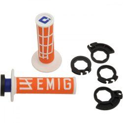 ODI Racing V2 Lock-on csavaros markolat, narancs-fehér