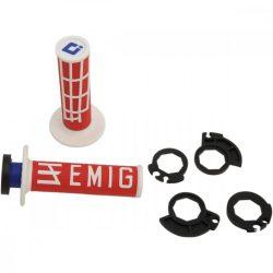 ODI Racing V2 Lock-on csavaros markolat, piros-fehér