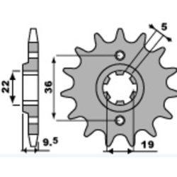 PBR acél szabványos első lánckerék
