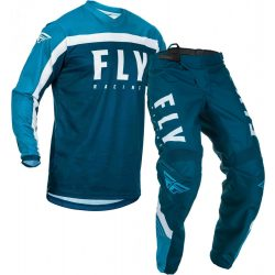 Fly Racing F-16 Jersey and Pants Combo Blue/White
