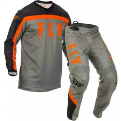 Fly Racing F-16 Jersey and Pants Combo Grey/orange