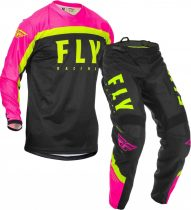 Fly Racing F-16 Jersey and Pants Combo Black/pink