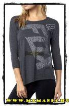 Fox Angled hosszú ujjú póló, Fekete színben