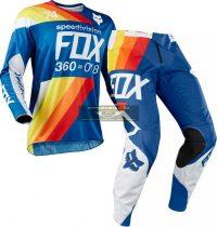 Fox 360 Draftr crossruha szett, Blue