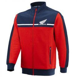 Honda Racing pulóver Zip ,piros-sötétkék  L méret