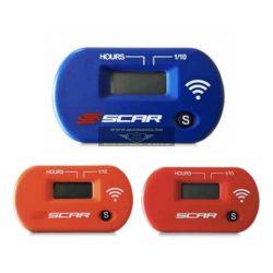 Scar vezeték nélküli üzemóra számláló kék, narancs és piros színben