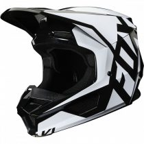 FOX MX20 V1 MVRS Prix, bukósisak, fekete-fehér