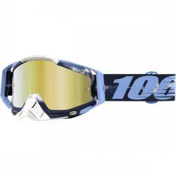 100% Racecraft Tiedye szemüveg arany tükrös lencsével