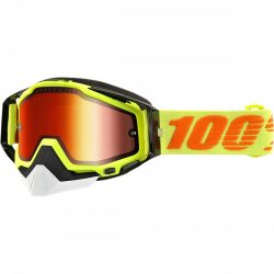 100%  RACECRAFT YELLOW SNOW GOGGLE W/ MIRROR YELLOW LENS