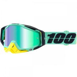 100% Racecraft Kloog szemüveg zöld tükrös lencsével
