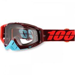 100% Racecraft Kikass szemüveg víztiszta lencsével