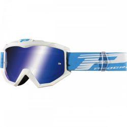 Progrip 3201 Atzaki cross szemüveg, fehér színben