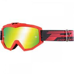 Progrip 3201 Atzaki cross szemüveg, fluo red színben