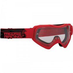 Moose Racing QUALIFIER SLASH Cross szemüveg, Piros