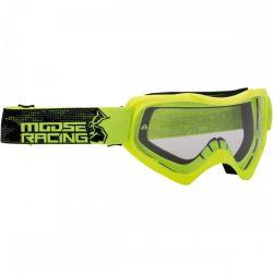 Moose Racing QUALIFIER SLASH Cross szemüveg, Fluósárga