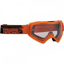 Moose Racing QUALIFIER SLASH Cross szemüveg, Narancs