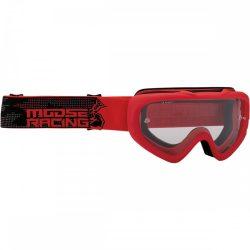 Moose Racing Qualifier motoros szemüveg, piros