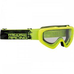 Moose Racing Qualifier motoros szemüveg, neon