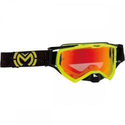 Moose Racing XCR pro stars fekete-sárga szemüveg tűkrős lencsével
