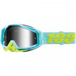100% Racecraft Pinacle szemüveg silver tükrös lencsével