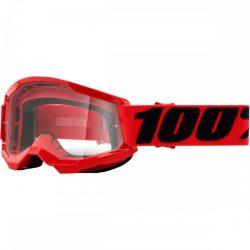 100% Strata 2 piros gyerek szemüveg víztiszta lencsével