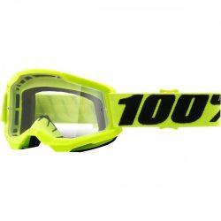 100% Strata 2 fluo sárga gyerek szemüveg víztiszta lencsével