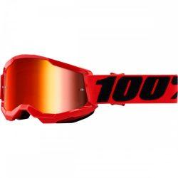 100% Strata 2 piros gyerek szemüveg tükrös lencsével