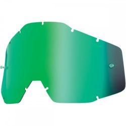 100% Accuri/Strata zöld tükrös gyerek szemüveg lencse