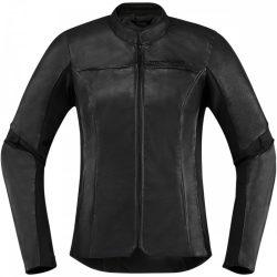 ICON  Overlord ™  női bőr kabát, fekete