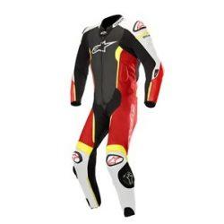 Alpinestars bőrruha 1-TEILER MISSILE TECH AIR COMPATIBLE fekete-fehér-piros-fluo