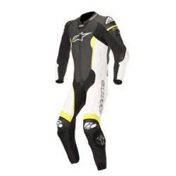 Alpinestars bőrruha 1-TEILER MISSILE TECH AIR COMPATIBLE fekete-fehér-fluo