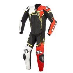 Alpinestars bőrruha 1-TEILER GP PLUS V2 fekete-fehér-piros-fluo