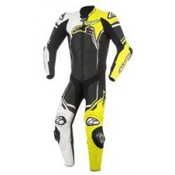 Alpinestars bőrruha 1-TEILER GP PLUS V2 fekete-fehér-fluo