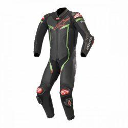 Alpinestars bőrruha LEDER 1-TEILER GP PRO V2 TECH AIR BAG fekete-zöld-piros