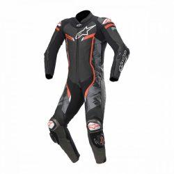 Alpinestars bőrruha LEDER 1-TEILER GP PRO V2 TECH AIR BAG fekete-camo -piros