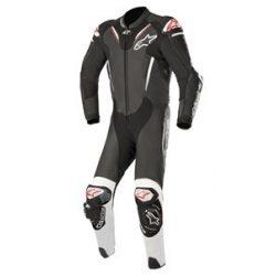 Alpinestars bőrruha 1-TEILER ATEM V3 fekete-fehér