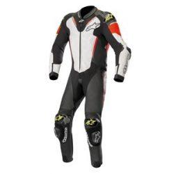 Alpinestars bőrruha 1-TEILER ATEM V3 fekete-fehér-piros-fluo