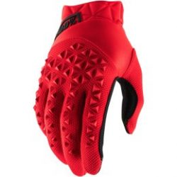 100% AIRMATIC SHORT GLOVES RED/BLACK