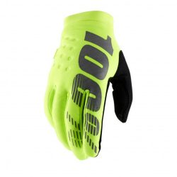 100% BRISKER COLD WEATHER GLOVES FLO YELLOW/BLACK 2XL MÉRET