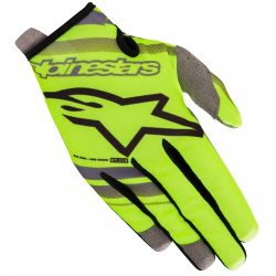 Alpinestars Radar Flight cross kesztyű, Gyerek, Fluo Yellow-Light Gray XS méret