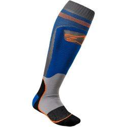 Alpinestars MX plus 1  zokni, kek-narancs színben
