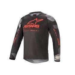 Alpinestars Racer Tactical  crossruha szett, Gyerek, szürke camo/fluo piros